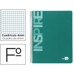 Cuaderno espiral liderpapel folio inspire tapa dura 80h 60 gr cuadro 4mm co