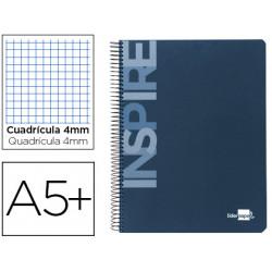 Cuaderno espiral liderpapel cuarto inspire tapa dura 80h 60 gr cuadro 4mm c