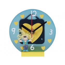 Reloj transparente futura figura niño/niña expositor de 6 unidades