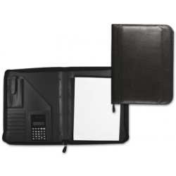Carpeta portafolios 80848 negra 260x355 mm cremallera sin anillas calculad
