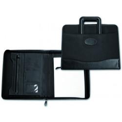 Cartera portadocumentos 35921 negra 360x285 mm con asa sin anillas cremall