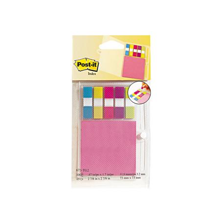 Blister papeleria 3m 673tg2 organizador de agenda con notas neon + index p