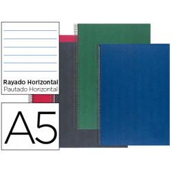 Cuaderno espiral liderpapel microperforado a5 160h horizontal 5 colores 6 t