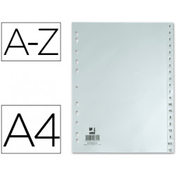 Separador alfabetico qconnect plastico az din a4 multitaladro