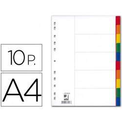 Separador qconnect plastico juego de 10 separadores din a4multitaladro