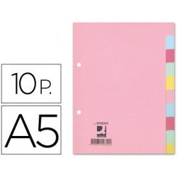Separador qconnect cartulina juego de 10 separadores din a5