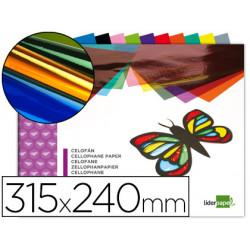Bloc trabajos manuales liderpapel celofan 240x315mm 10 hojas colores surtid