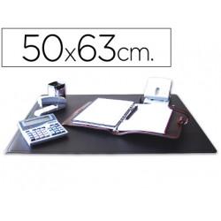 Vade sobremesa qconnect negro 50x63 cm