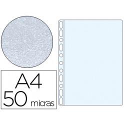 Funda multitaladro qconnect din a4 50 micras piel de naranja bolsa de 10 u
