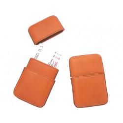 Portatarjetas de visita artesania de piel medida 105x65 cm