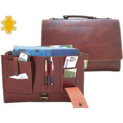 Cartera portafolios artesania de piel con broche medidas 37x262x76 cm