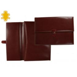 Carpeta portafolios artesania de polipiel con broche medidas 365x265x35