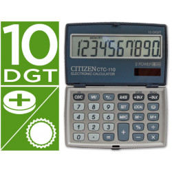 Calculadora citizen bolsillo ctc110 10 digitos plata 106x63x14 mm