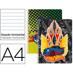 Cuaderno espiral liderpapel microperforado a4 80h horizontal 4 colores hot