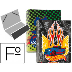 Carpeta liderpapel clasificadora fantasia carton forrado solapa hot wheels