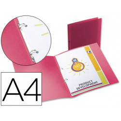 Carpeta liderpapel 2 anillas redondas mini 15 mm 49070 polipropileno din a4