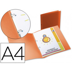 Carpeta liderpapel 2 anillas redondas mini 15 mm 49071 polipropileno din a4