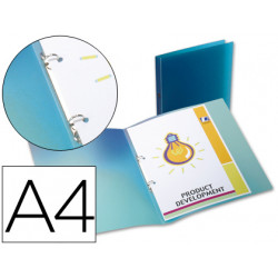 Carpeta liderpapel 2 anillas redondas mini 15 mm 49072 polipropileno din a4