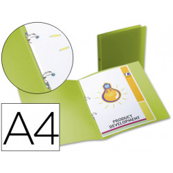 Carpeta liderpapel 2 anillas redondas mini 15 mm 49073 polipropileno din a4