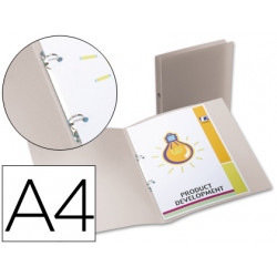 Carpeta liderpapel 2 anillas redondas mini 15 mm 49074 polipropileno din a4