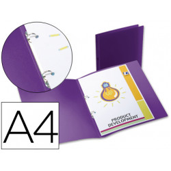 Carpeta liderpapel 2 anillas redondas mini 15 mm 49076 polipropileno din a4
