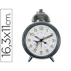 Reloj despertador clasico cromado