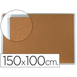 Pizarra corcho qconnect marco de aluminio 150x100 cm extra corcho 5 mm