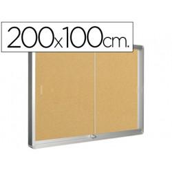 Vitrina de anuncios qconnect marco de aluminio 1000 x 2000 mm