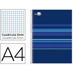 Cuaderno espiral liderpapel a4 micro classic tapa forrada 160h 60 gr cuadro