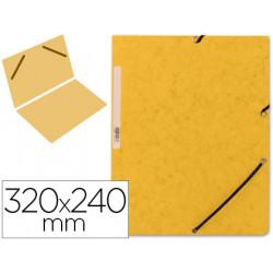 Carpeta qconnect gomas kf00454 carton similprespan 320x243 mm lomo de 3 c