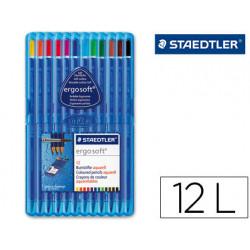 Lapices de colores staedtler ergosoft acuarelable estuche de 12 colores