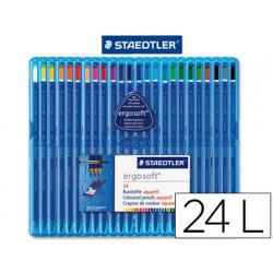 Lapices de colores staedtler ergosoft acuarelable estuche 24 colores