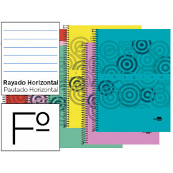 Cuaderno espiral liderpapel folio imagine tapa plastico 80h 60 gr horizonta