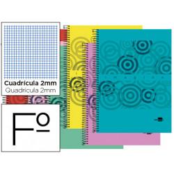 Cuaderno espiral liderpapel folio imagine tapa plastico 80h 60 gr milimetra