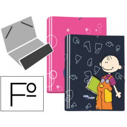 Carpeta liderpapel clasificadora fantasia carton forrado solapa pop & hot
