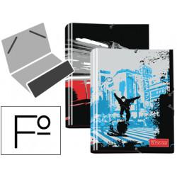 Carpeta liderpapel clasificadora fantasia carton forrado solapa seven