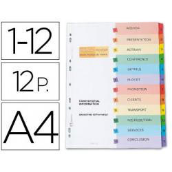 Separador avery imprimibles din a4 12 separadores numericos