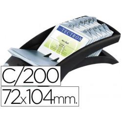 Tarjetero duraclip visifix negro 100 fundas para 200 tarjetas tamaño 72x104