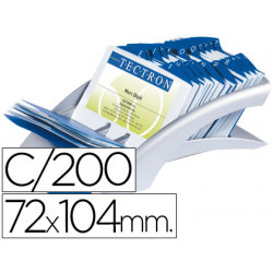 Tarjetero duraclip visifix plata 100 fundas para 200 tarjetas tamaño 72x104