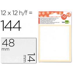 Etiquetas liderpapel sobre de 10 h + 2 h obsequio 14x48 mm 10 unidades p