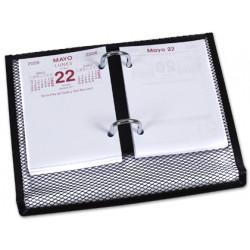 Portacalendario metalico qconnect kf00827 negro 220x173x30 mm