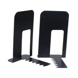 Apoyalibros metalico qconnect kf00837 negro juego 140x178x191