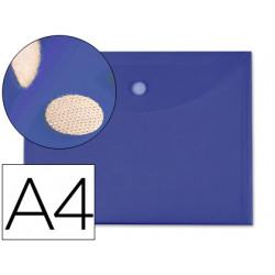 Carpeta liderpapel dossier a4 cierre de velcro azul oscuro