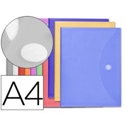 Carpeta liderpapel dossier a4 cierre de velcro colores surtidos pack 10+2 g