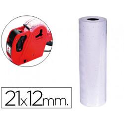 Etiquetas qconnect blanca 21 x 12 mm lisa rollo 1000 etiquetas para etiqu