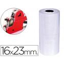 Etiquetas qconnect blanca 16 x 23 mm lisa rollo 700 etiquetas para etique