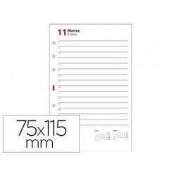 Recambio agenda finocam 601 anualidad 56x89 mm 2 dias pagina texto en catal