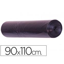Bolsa basura industrial negra 90x110cm galga 200 rollo de 10 unidades