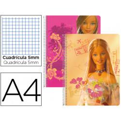 Cuaderno espiral liderpapel microperforado a4 80h cuadro 5mm 6 taladros bar