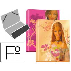 Carpeta liderpapel clasificadora fantasia carton forrado solapa barbie